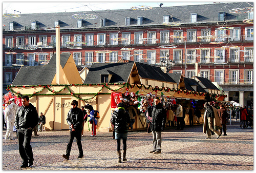 Christmas market at Plaza Mayor